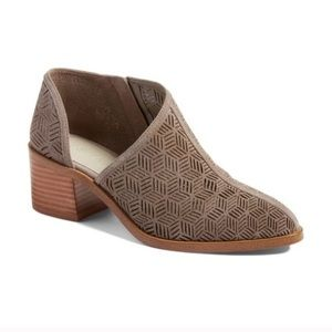 1.State Taupe Iddah Cut Out Ankle Booties Size 7